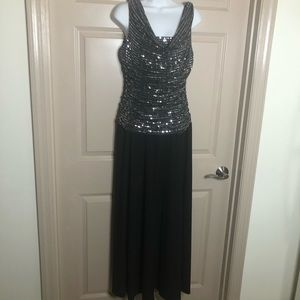 Sequin gown, size 12, stretch, very flattering